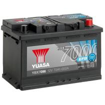 Yuasa YBX7096 - BATERÍA EFB T0 12V 72AH 760A0 260X173X225  NISSAN J11