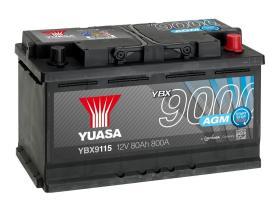 Yuasa YBX9115 - Batería AGM 12V 70AH 760A T0